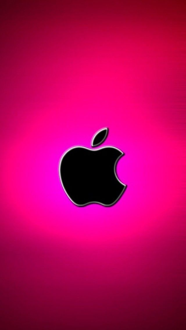 Hot Pink Apple Logo Apple Wallpaper Apple Logo Wallpaper Iphone Apple Logo Wallpaper
