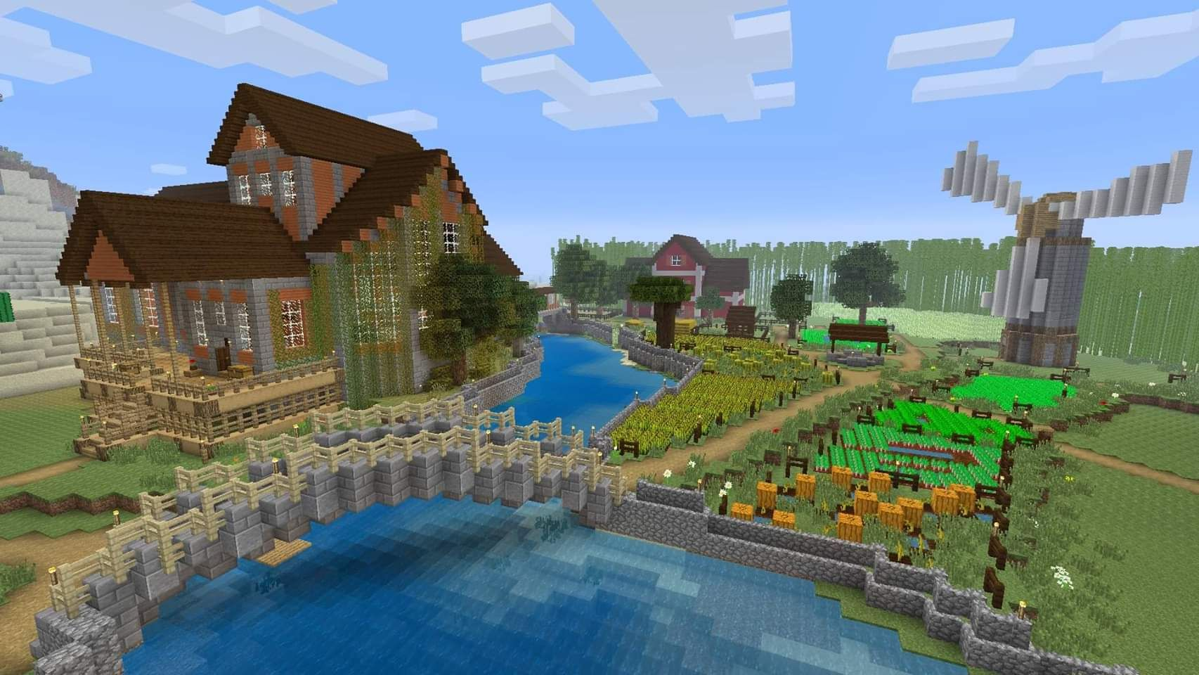 A farm i've been working on in survival Minecraft