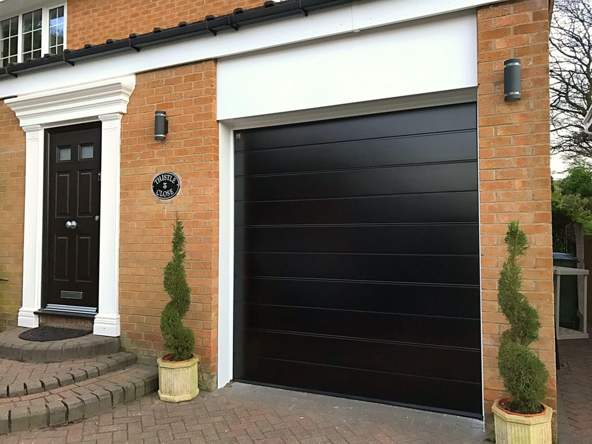 Image Result For Black Sectional Garage Door With Windows Garage