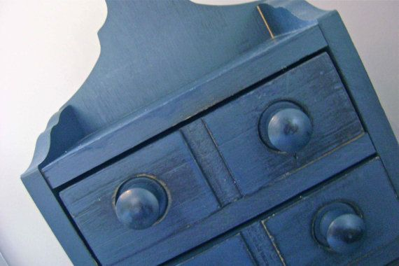 country cottage blue drawers cupboard cabinet