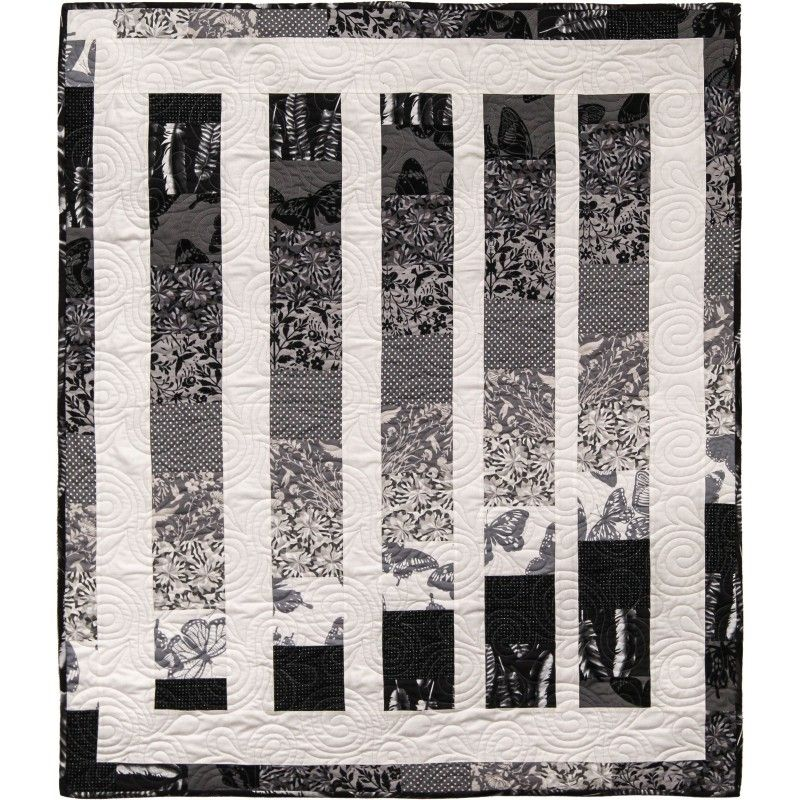 Color Wheel Quilt Kit - Black & White Collection | quilts ... : black and white quilt kits - Adamdwight.com