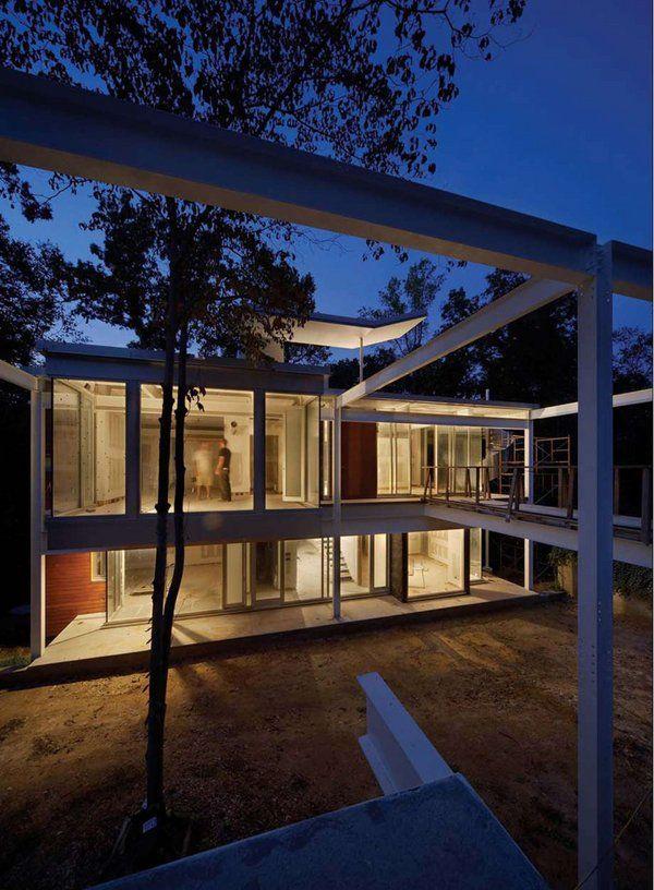 Stahlrahmen Häuser Rahmen nach Hause Design-Metall-modernes Haus ...