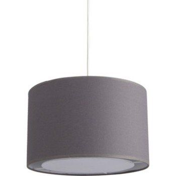 Suspension Design Natt coton gris galet n°3 1 x 60 W INSPIRE ...