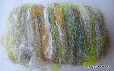 Geode blended art batt 33 oz by CottageDyeworks, $13.50