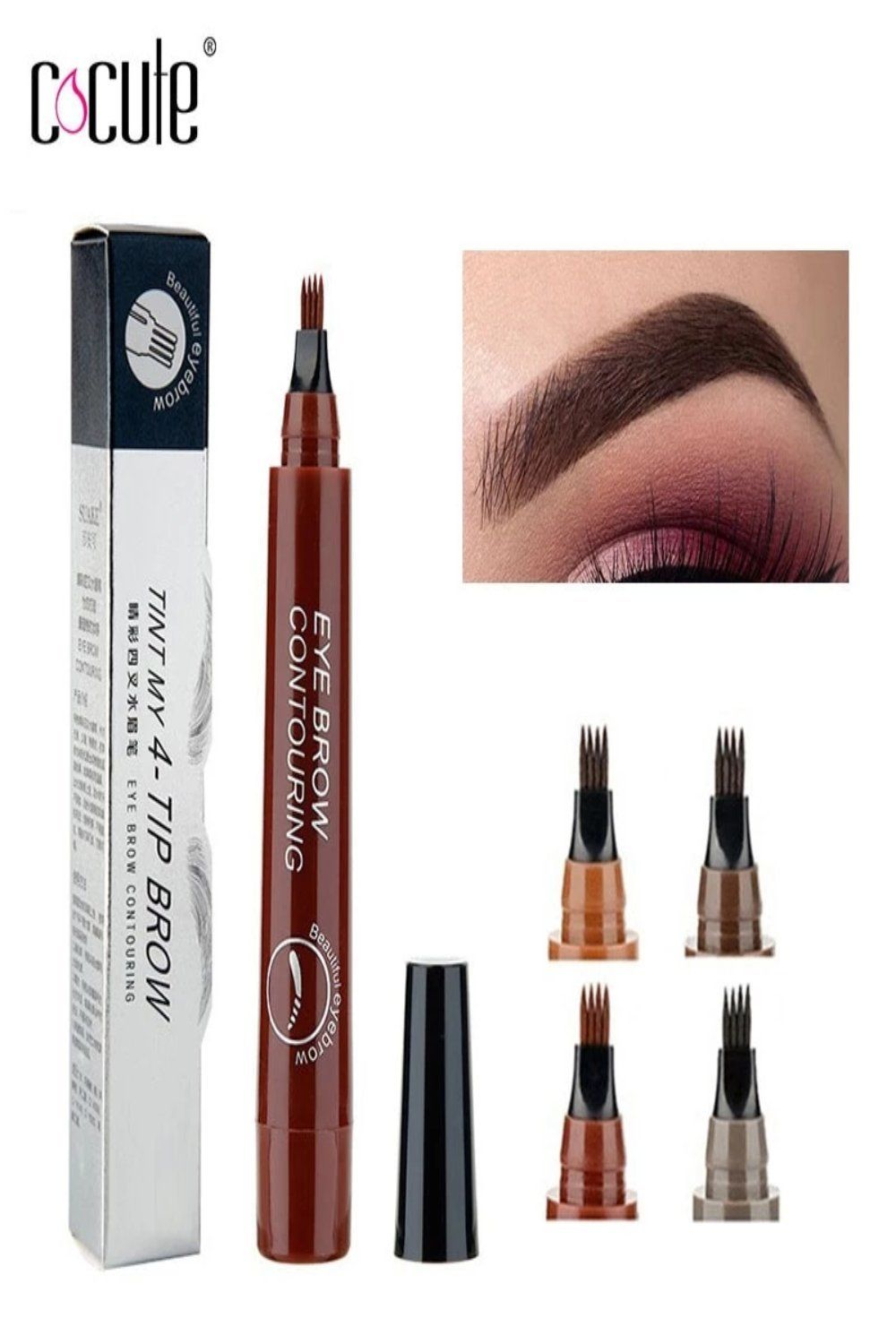 Microblading Eyebrow Pencil Tint 4 Tip Liquid Brow Tattoo