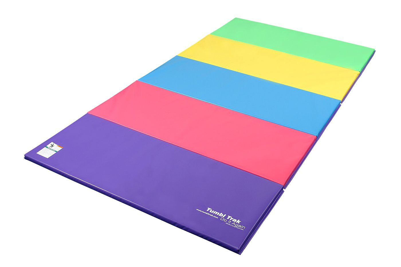 Tumbl Trak Folding Gymnastics Mat Bright Pastel 5 Ft X 10 Ft X 2 In Tumbl Trak Tumbling Mats Are The Highest Quality Gymnastics Mats Tumble Mats Gymnastics