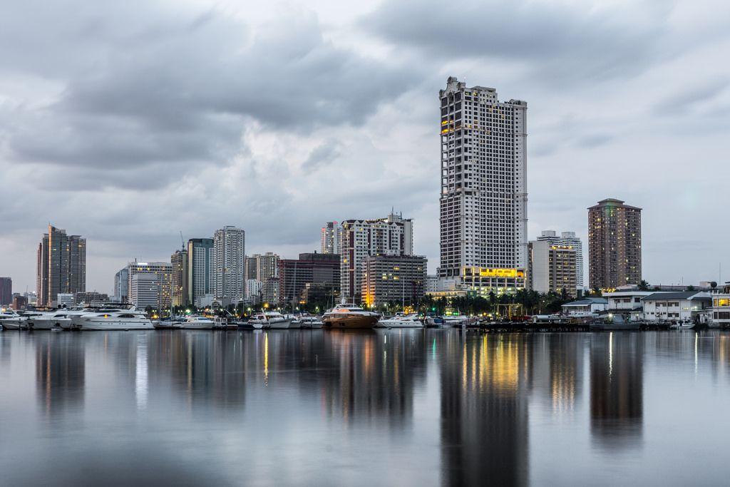 Skylines of Manila on a cloudy day Skyline, Travel