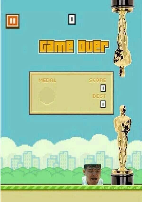 Flappy Bird: Leo DiCaprio edition