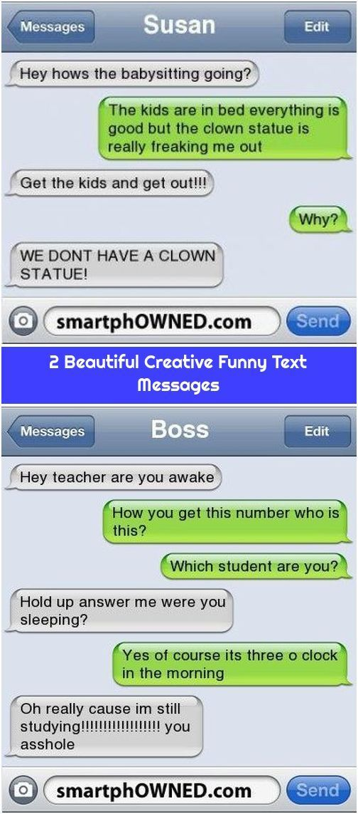 2 Beautiful Creative Funny Text Messages