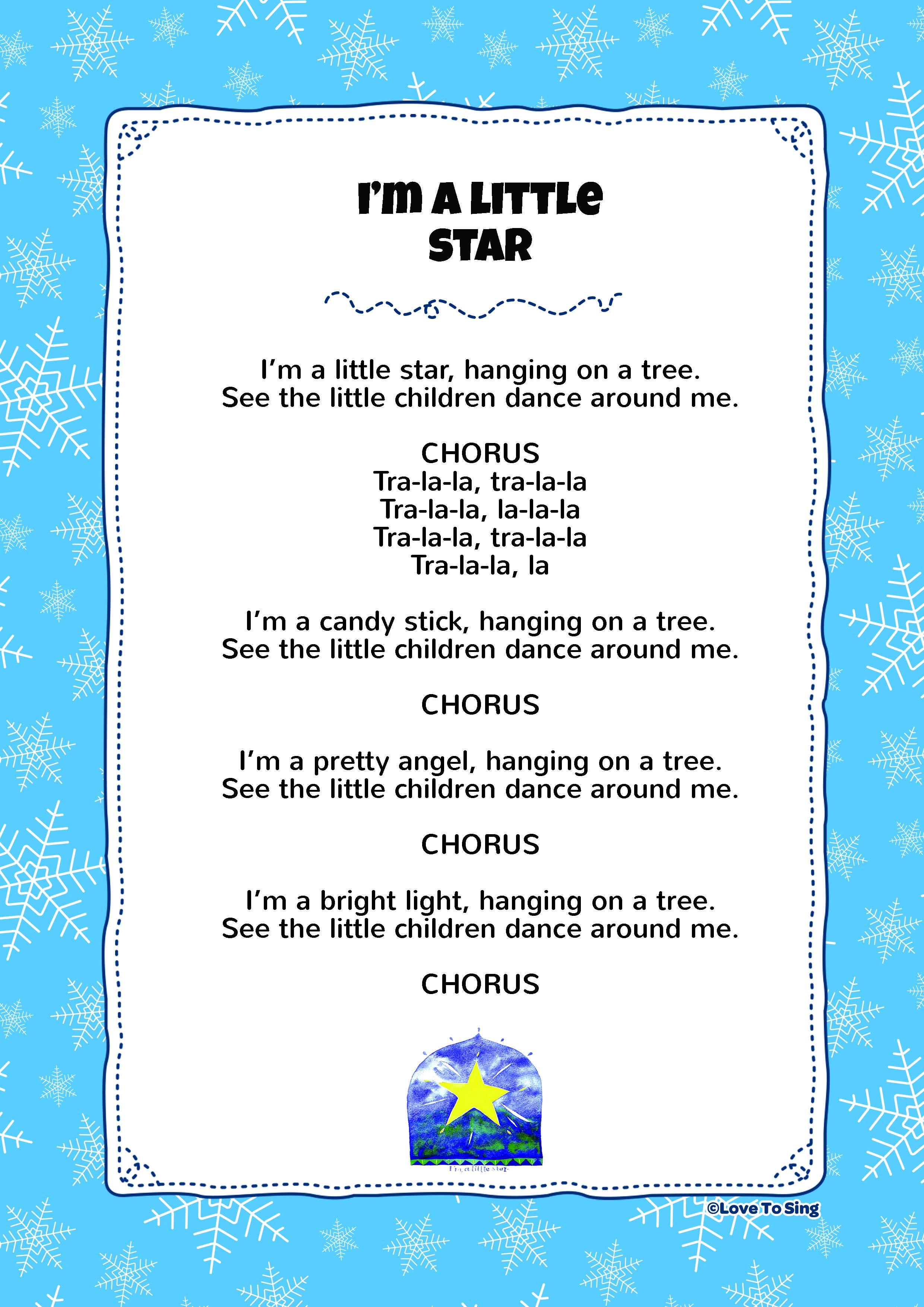 I'm A Little Star Kids video songs, Christmas songs