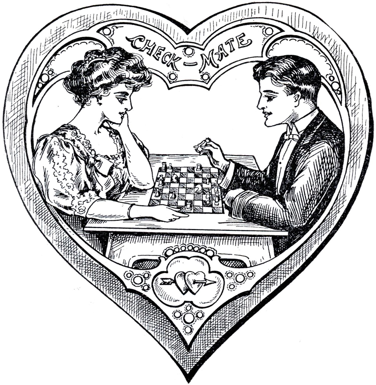 Victorian Heart Valentines | Vintage valentines ...