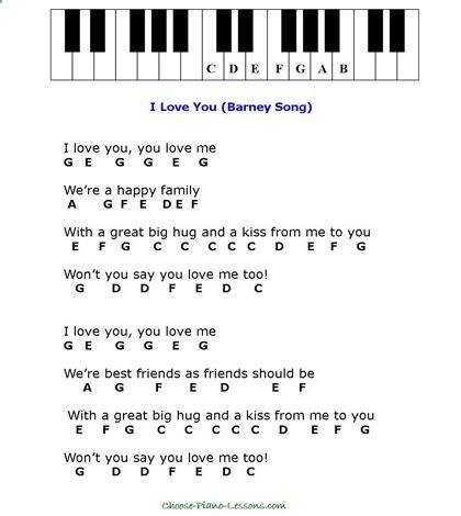 Simple Kids Songs For Beginner Piano Players Piano Chords Chart