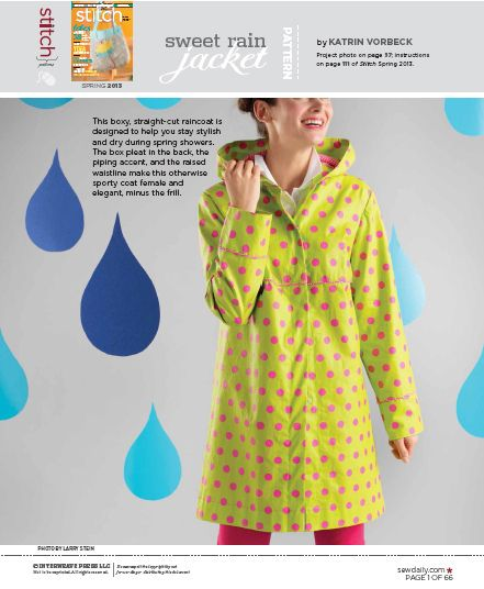 raincoat pattern frau vau klamotten sewing patterns sewing und sewing patterns free. Black Bedroom Furniture Sets. Home Design Ideas