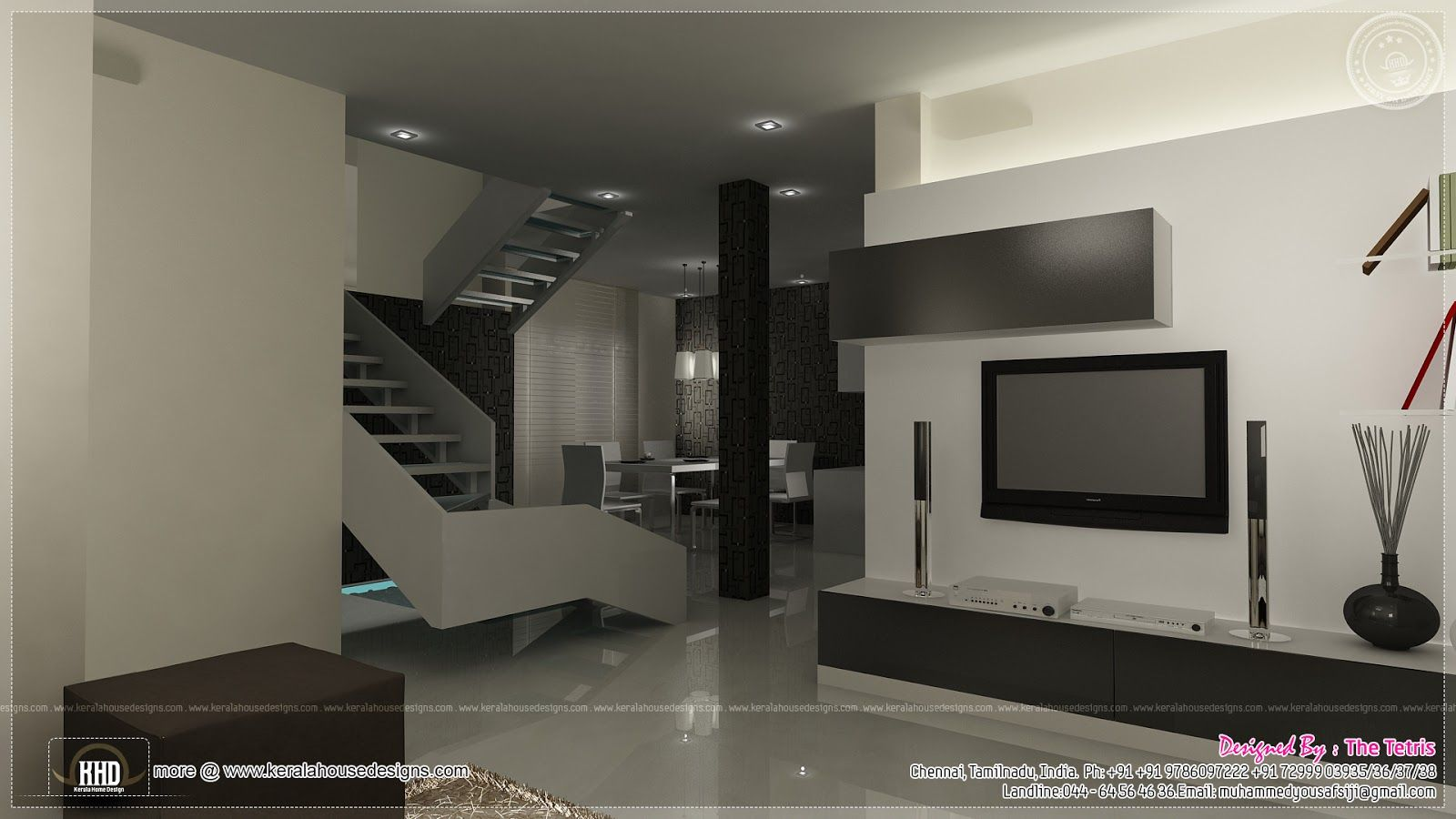 Interior design renderings by Tetris Architects, Chennai | Modern ...