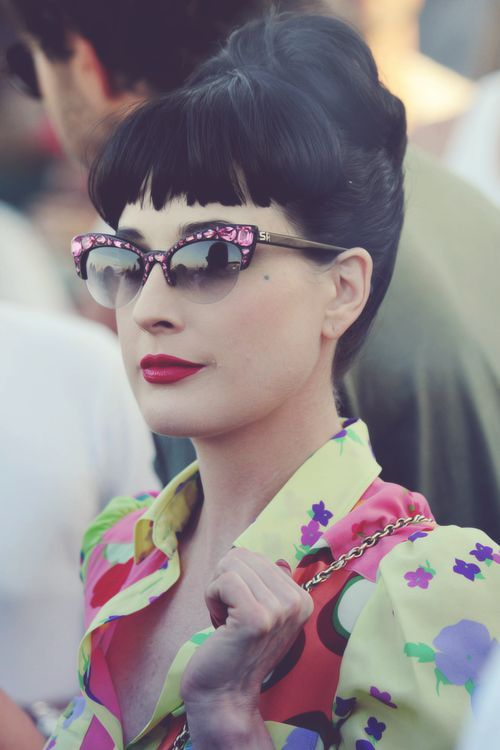 7bc0e821345 Glasses  dita von teese sunglasses...Details in streetstyle ...