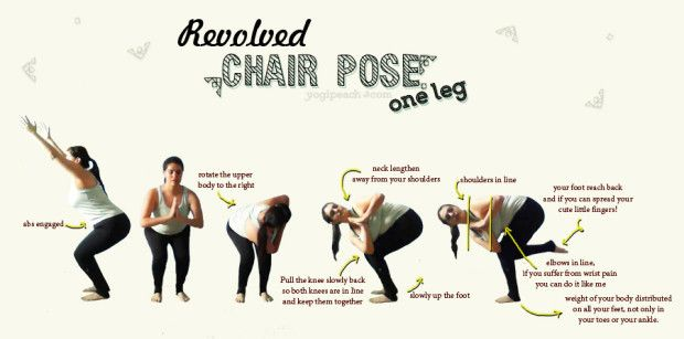 One Leg Revolved Chair Pose Poses Chair Pose Yoga Inspo