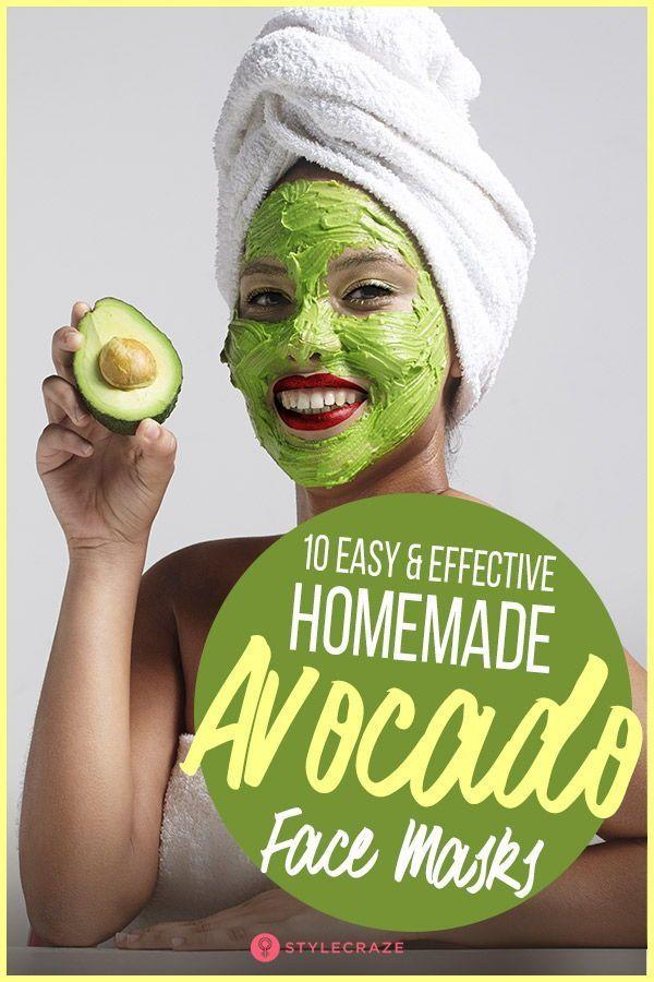 10 Easy And Effective Homemade Avocado Face Masks