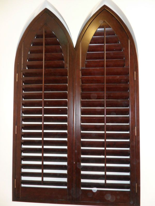Special Shape Wooden Window Shutters