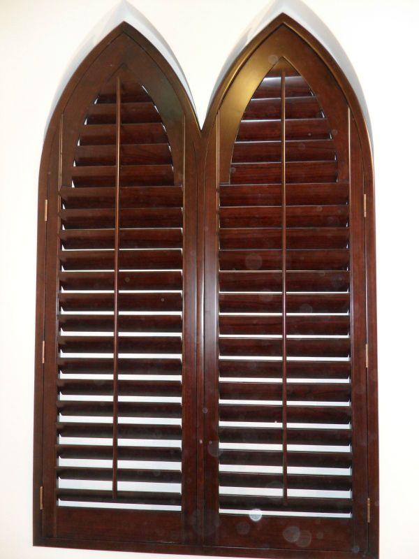 Special Shape Wooden Window Shutters
