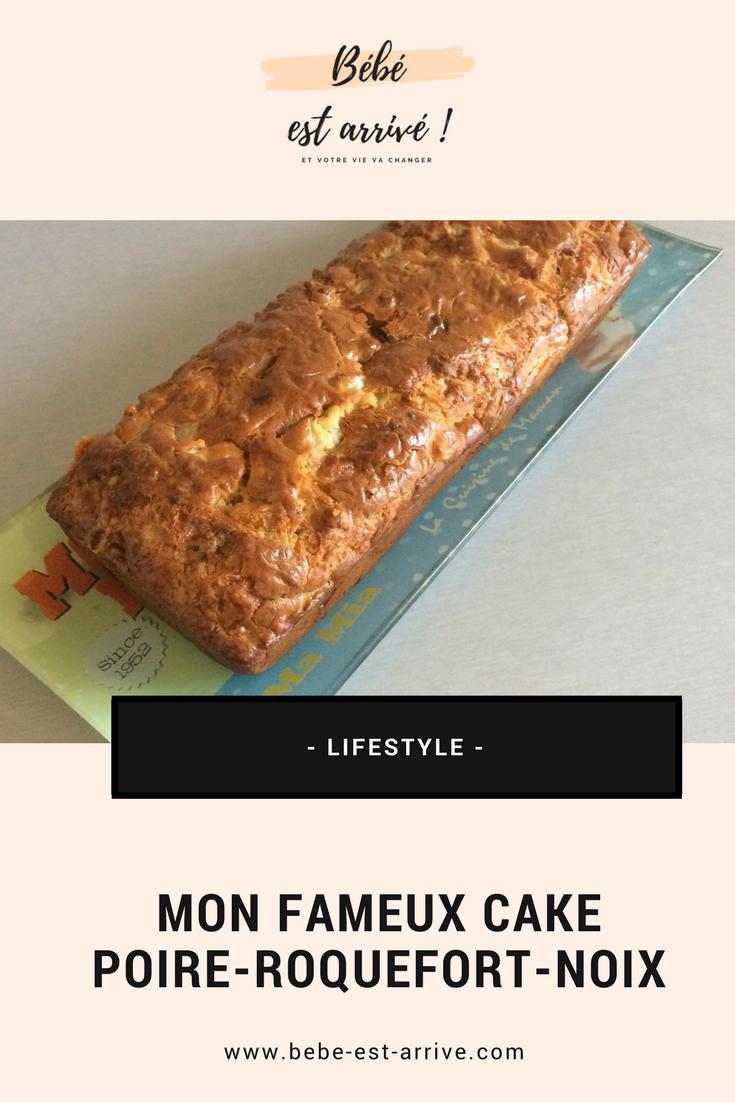 La recette de mon fabuleux cake poire-roquefort-noix... #recettesympa