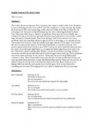 worksheets for great gatsby | ... worksheets > Reading comprehension ...