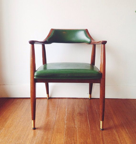 Vintage mid century modern desk chair mcm side by for Classic mid century chairs