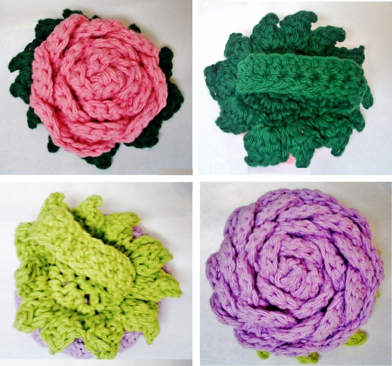 Rose / Rose Scrubby Crochet Patterns