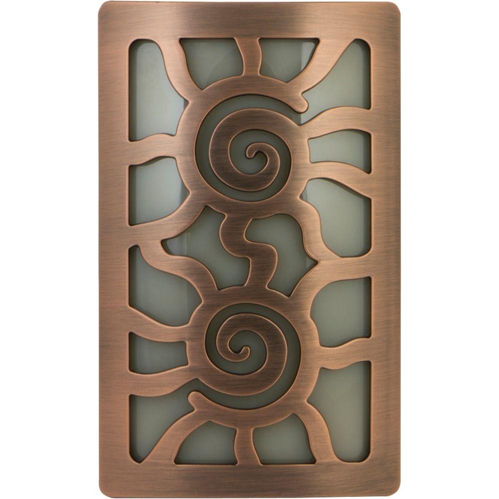 Ge Faux Bronze Aztec Sun Coverlite Led Night Light Night