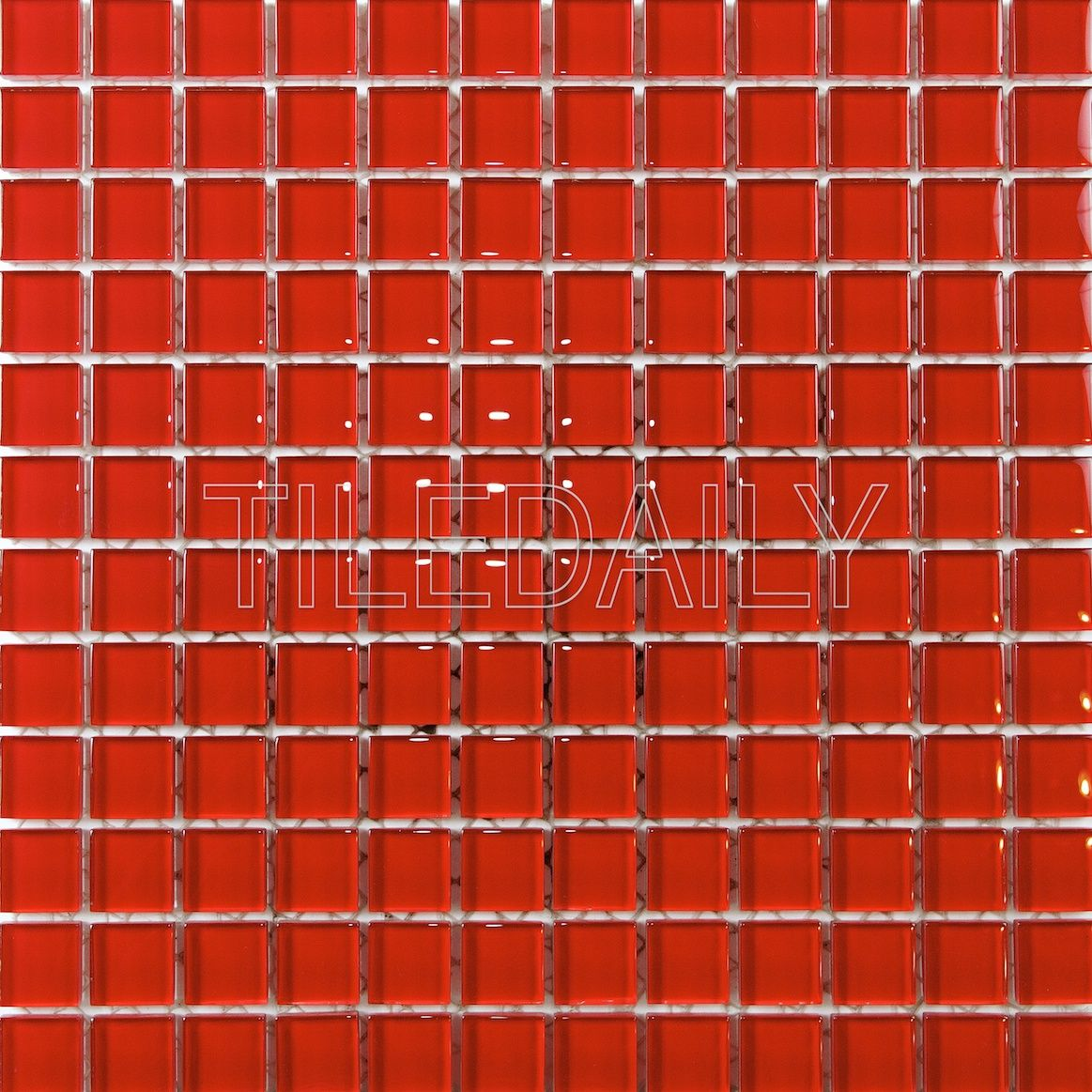 Beautiful Red Glass Mosaic [pack of 10] $11.50/sq.ft. #tiles #glass ...