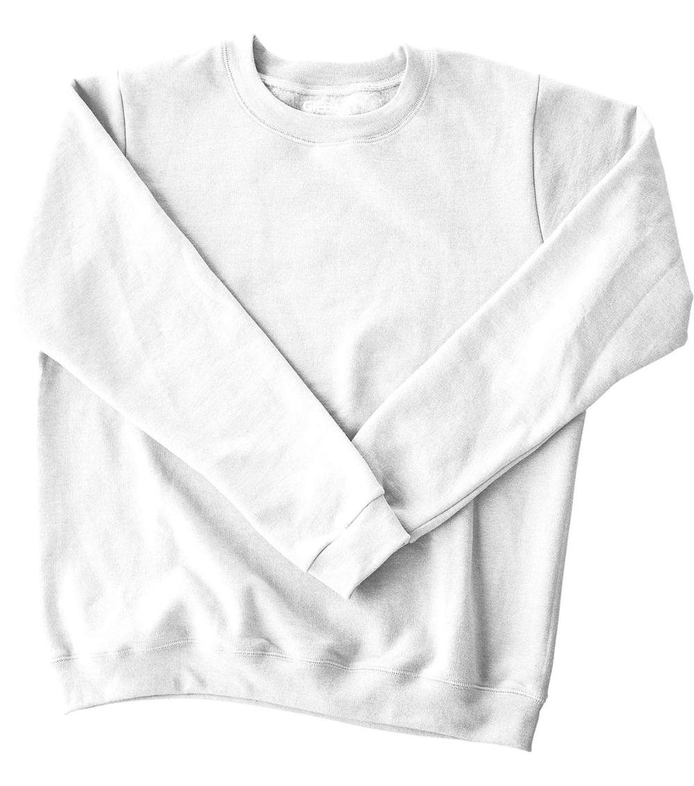 Gildan Adult Crew Fleece Sweatshirt Small, White