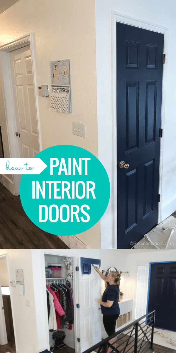 How To Paint Interior Doors With A Faux Wood Grain Finish And Raised Panels See We Painted Our Add Color Neutral Open Floor