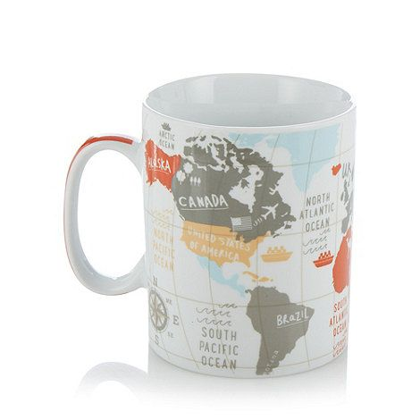 Ben de lisi home designer porcelain map of the world giant mug at ben de lisi home designer porcelain map of the world giant mug at debenhams gumiabroncs Image collections