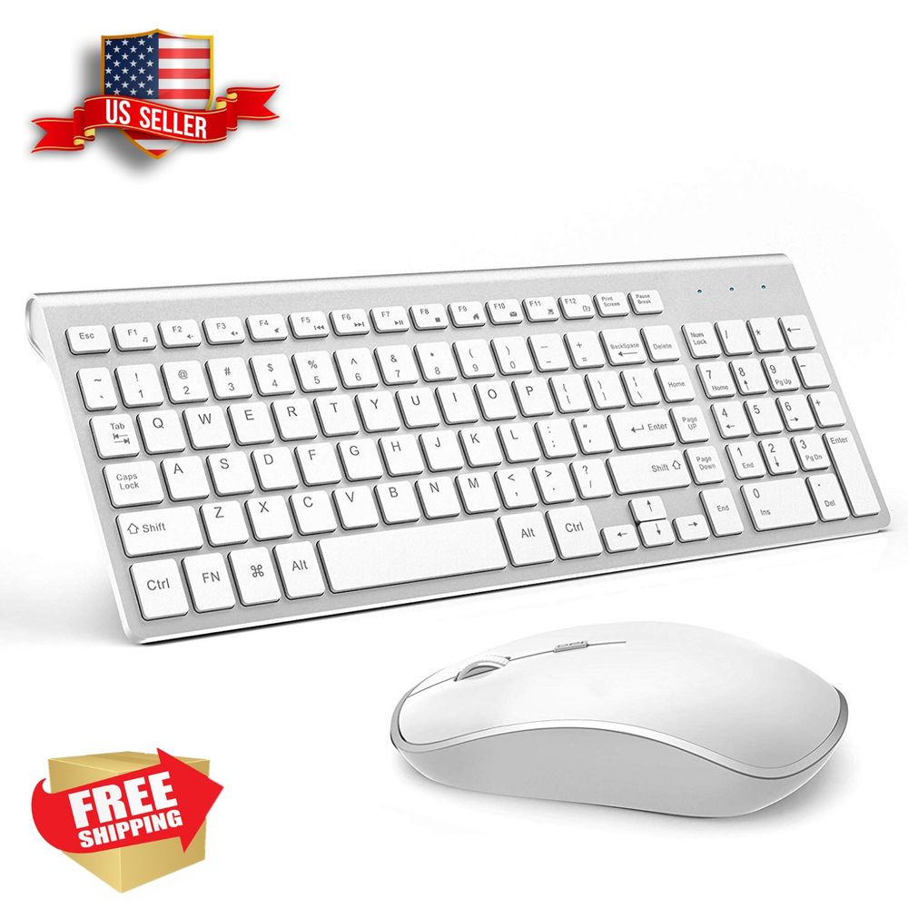 Wireless Keyboard And Mouse Bundle Combo Set For Mac Apple Full