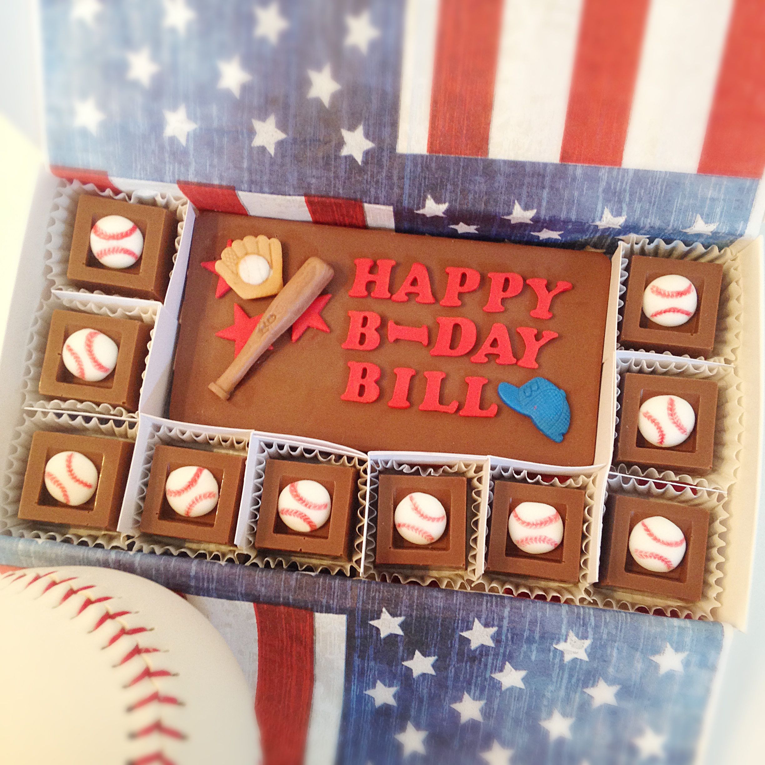 Chocolate birthday baseball gift happy birthday baseball chocolate birthday baseball gift happy birthday baseball chocolate squares unique gift for dad negle Image collections