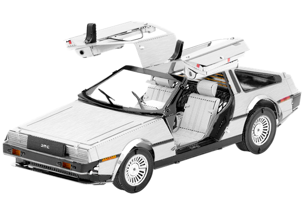 Metal Earth Models Within The Lord Of The Rings Delorean From