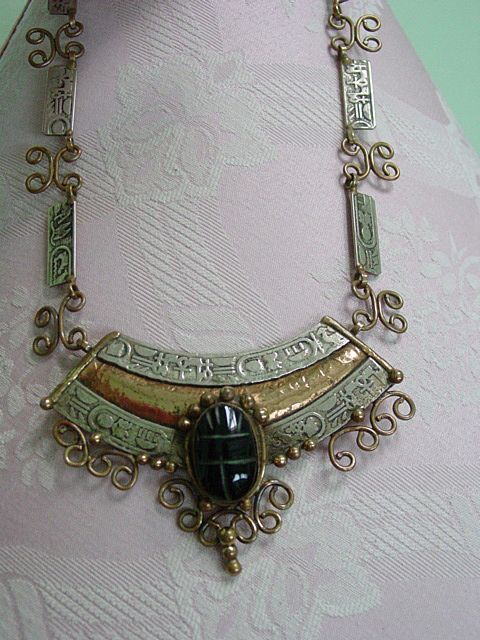 IXEL Hecho En Mexico Mixed Metal Nickel Silver & Brass Carved from donnadally on Ruby Lane