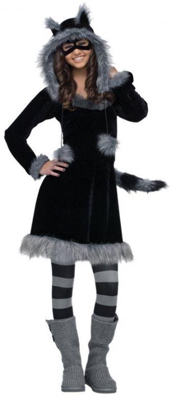 Raccoon Costume - A modest yet cute adult costume! Cute Teen Halloween CostumesTeen Girl ...  sc 1 st  Pinterest & Raccoon Costume - A modest yet cute adult costume! | Halloween ...