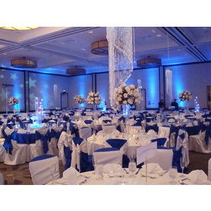 Wonderful Blue Reception | Wedding, Flowers, Reception, White, Blue, Silver