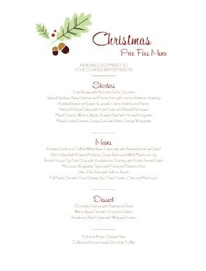 Holiday ideas | Club | Pinterest | Christmas holidays, Menu and ...