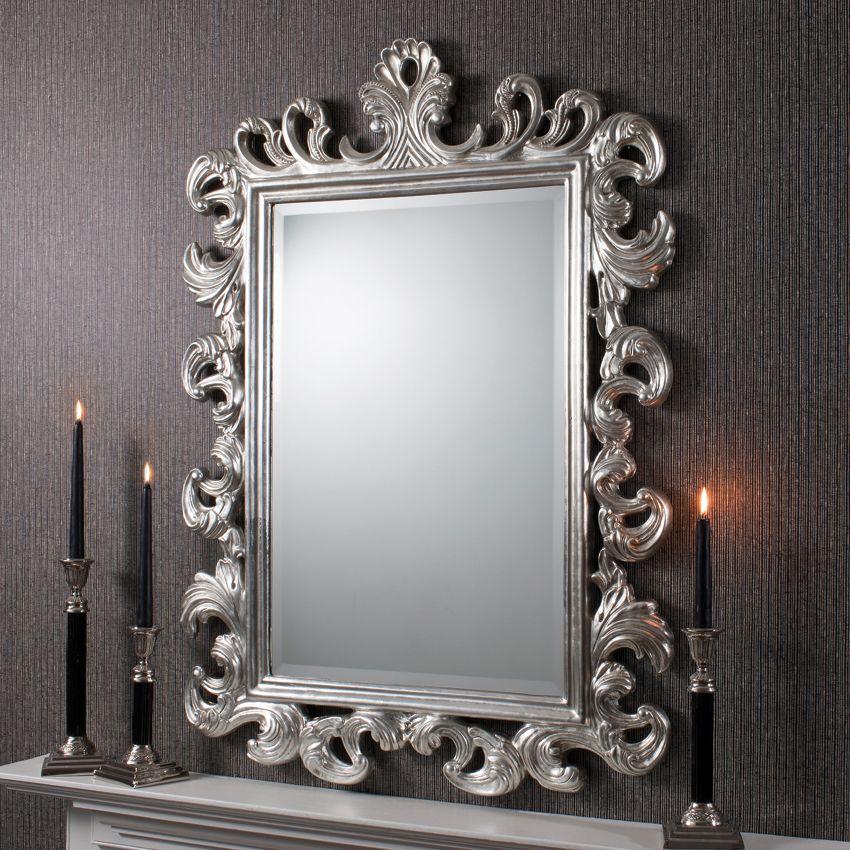 Royale Mirror Silver Nicholas John Interiors Ornate Mirror