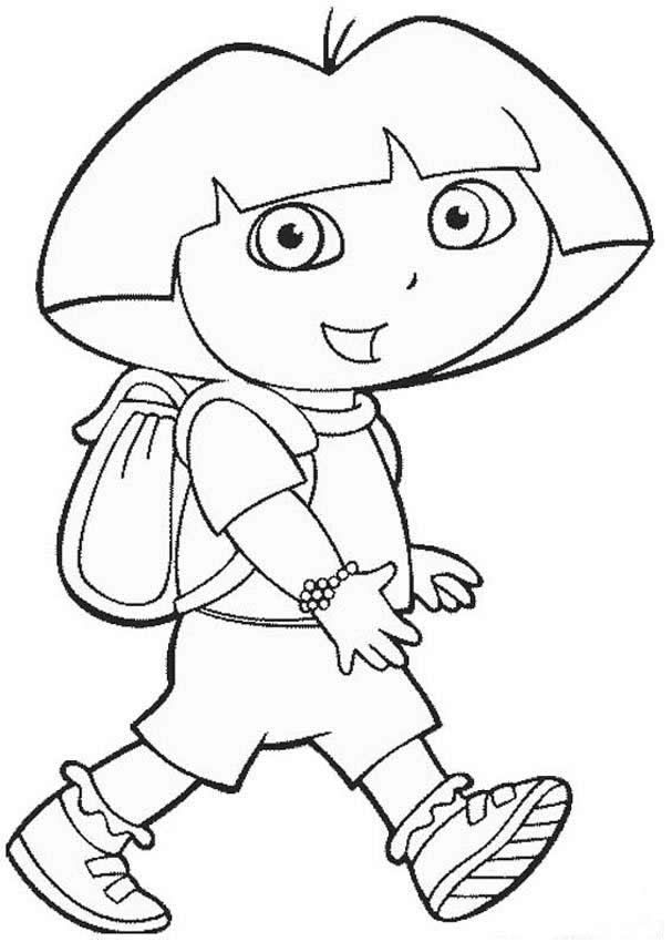 Dora The Explorer Printable Coloring Pages Dora Coloring