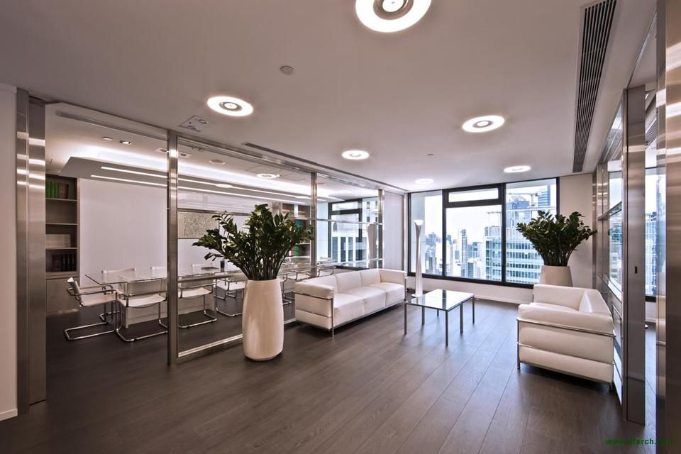 Law firm modern reception commercial law firm modern for Interior design law office