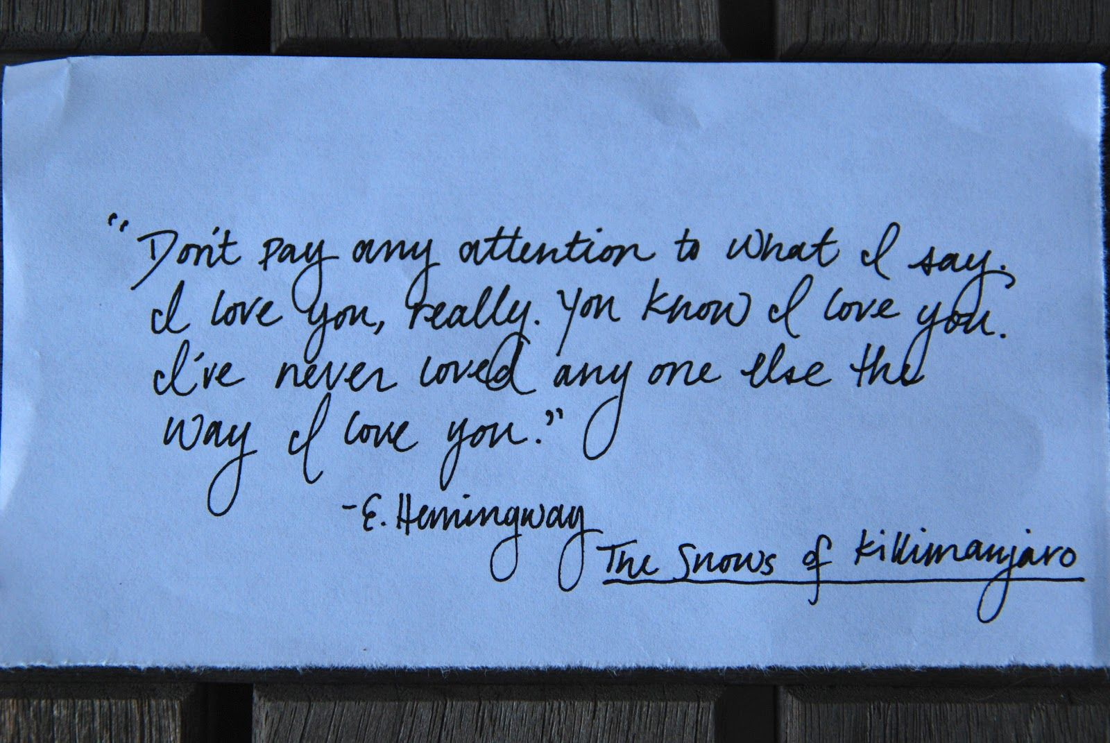 Sailing Quotes Hemingway Quotesgram: Hemingway, The Snows Of Kilimanjaro