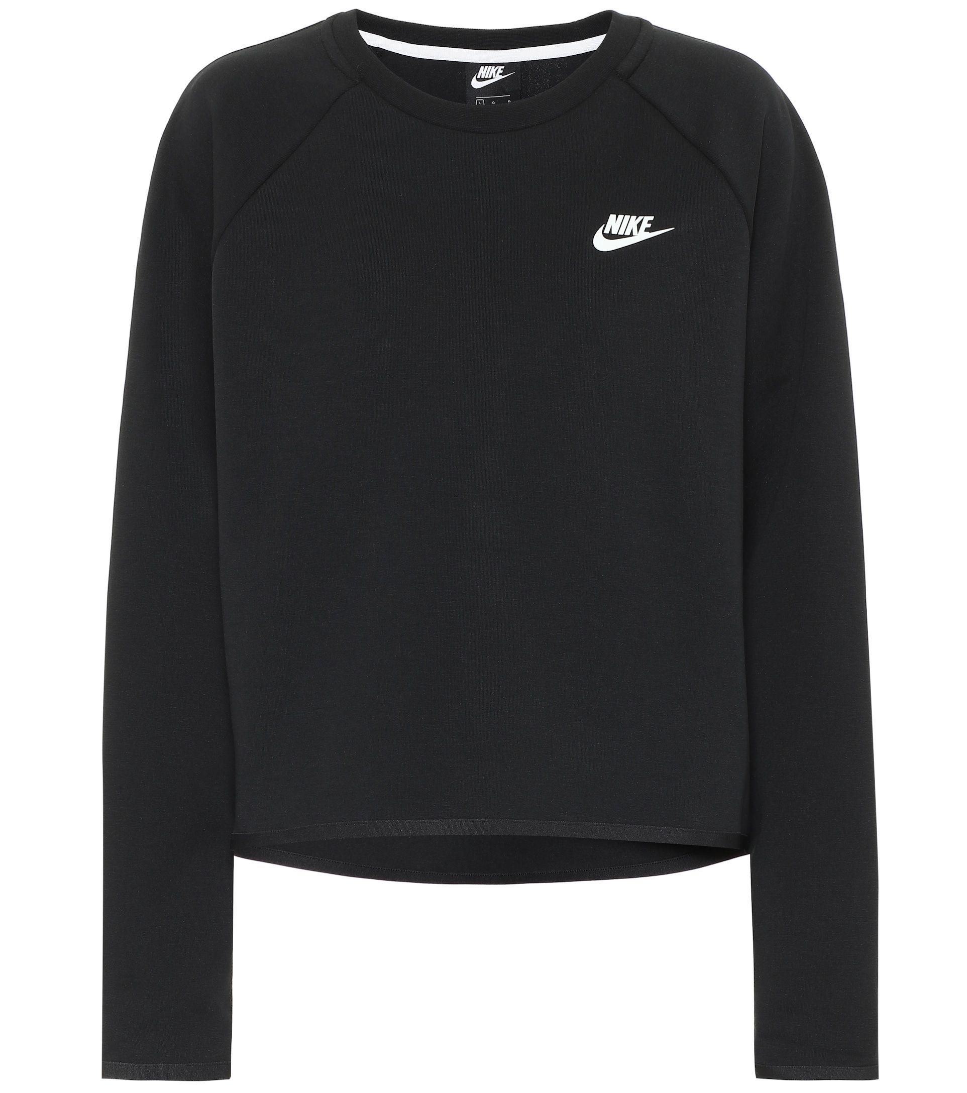 Cotton Blend Sweatshirt Nike Mytheresa Sweatshirts Clothes Cotton Hoodie [ 2176 x 1925 Pixel ]