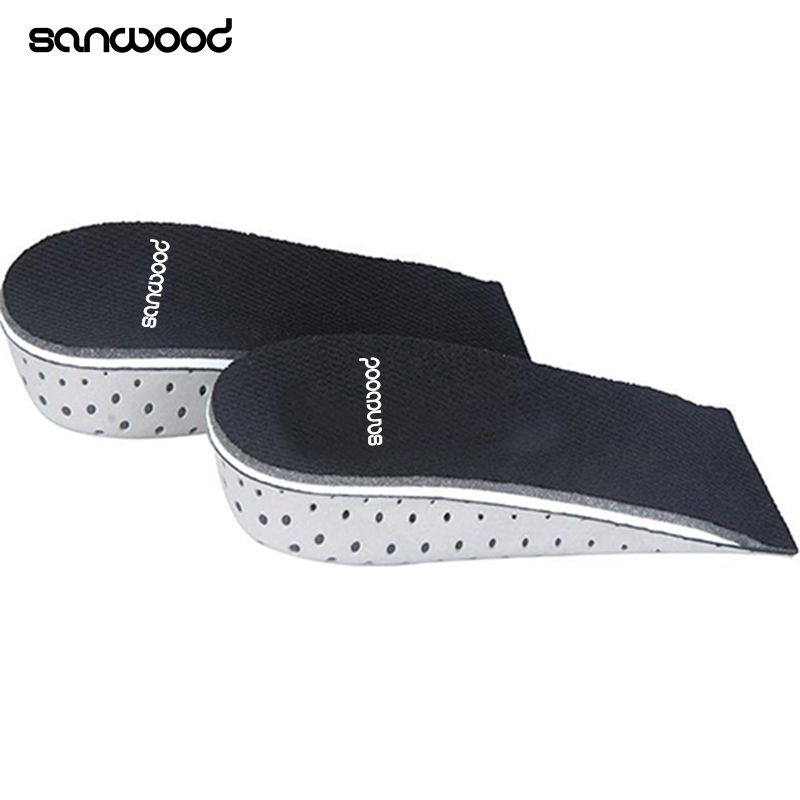 Unisex Shoe Insole Air Cushion Heel Insert Increase Tall Height Lift 2.3-4.3cm