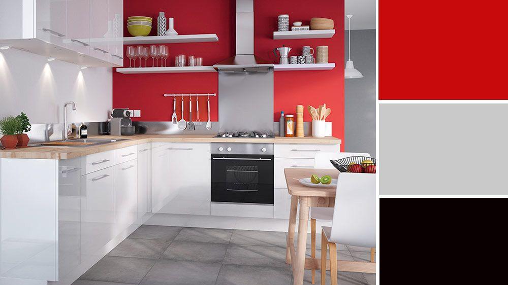 Quelle couleur choisir pour une cuisine troite for Cuisine rouge et gris