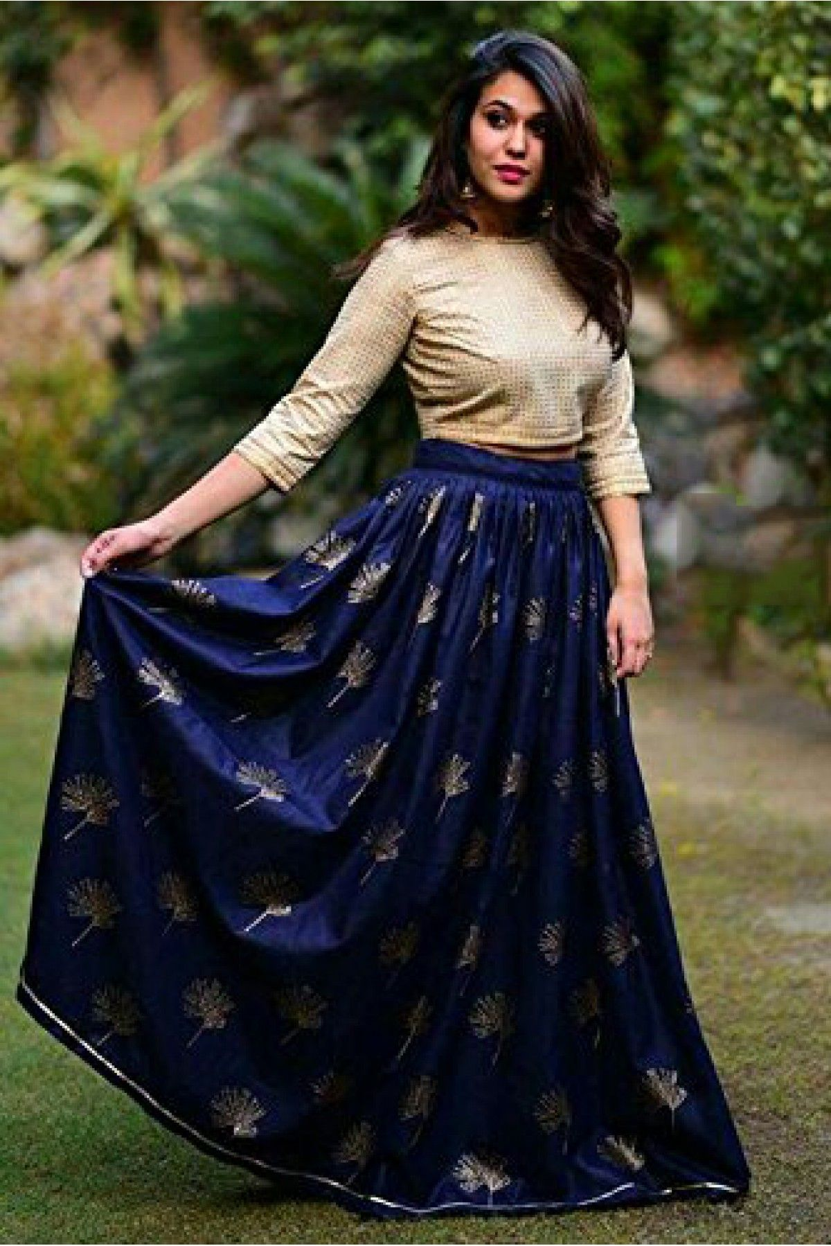 6b1de731e3f6a6 Navy Blue Colour Banglori Silk Fabric Party Wear Lehenga Choli Comes with  matching blouse. This Lehenga Choli Is crafted with Embroidery This Lehenga  Choli ...