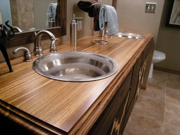 Bathroom Vanity Veneer furniture beauty countertop for bathroom vanity from zebrano wood