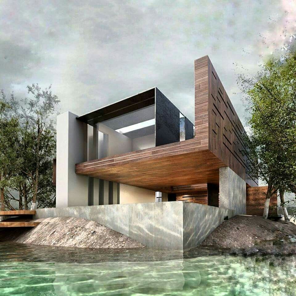Modern Architecture Home Design: Contemporary Design Render By Arquitectos Fonseca #Mexico