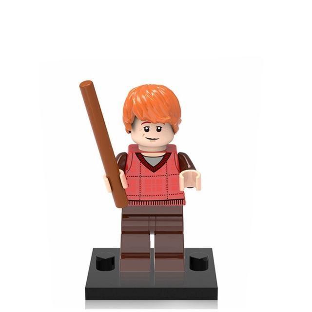 Single DIY Figures Harry Potter Dumbledore Hermione Death Eater Ron Luna Building Blocks and Models Toys For Children